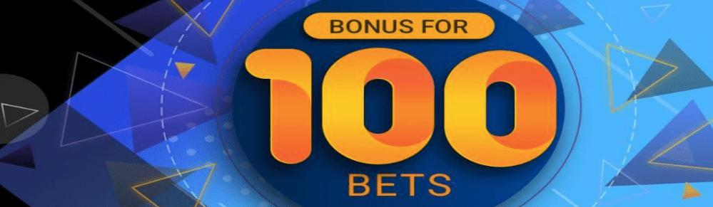 Bônus para 100 apostas no Melbet